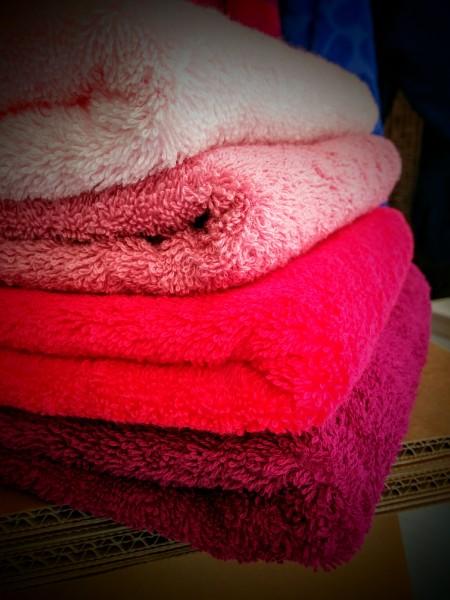 Asciugamani rosa spugna linteum gioia del colle