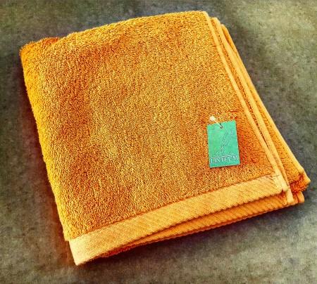 Asciugamano spugna arancio linteum biancheria