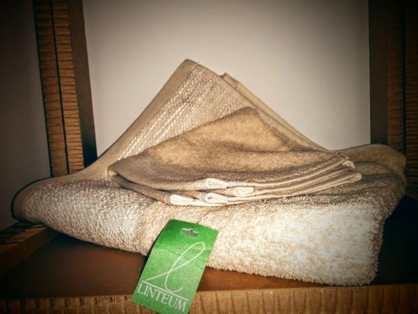 Asciugamano lavetta spugna fascia beige linteum gioia del colle